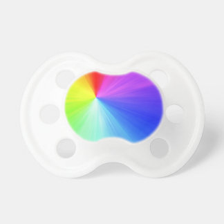 Rainbow spectrum design pacifier