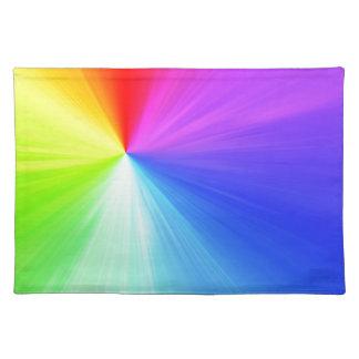 Rainbow spectrum design placemat