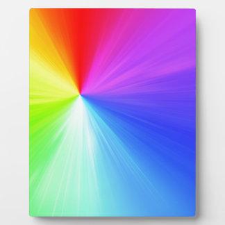 Rainbow spectrum design plaque