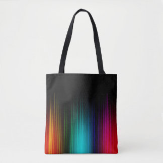 Rainbow spectrum tote bag