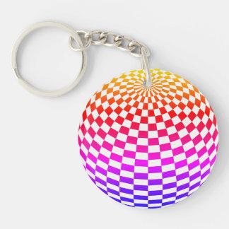 Rainbow Sphere Double Sided Keychain