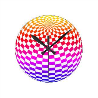 Rainbow Sphere Wall Clock