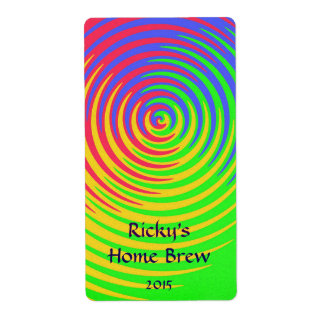 Rainbow Spiral Beer Label Shipping Label