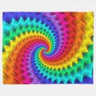 Rainbow Spiral Blanket