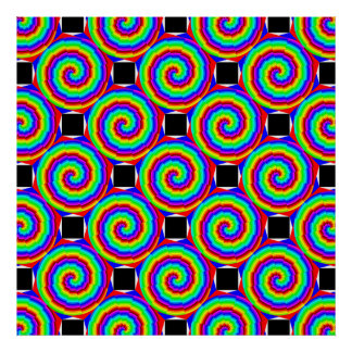 Rainbow Spiral by Kenneth Yoncich Poster