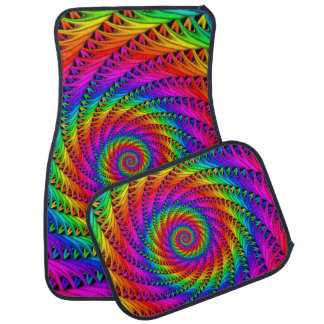 Rainbow Spiral Car Mats