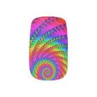 Rainbow Spiral Minx Nails Minx Nail Art