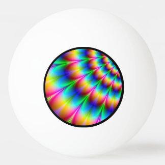 Rainbow Spiral Optical Illusion Ping-Pong Ball