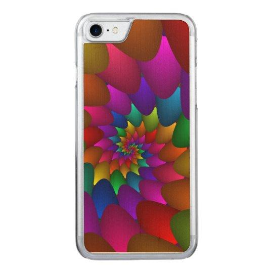 Rainbow Spiral Orbs iPhone 6 Slim Wood Carved iPhone 7 Case