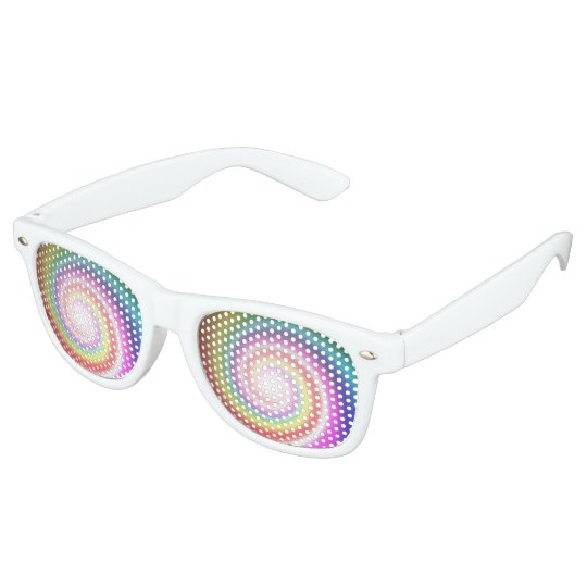 rainbow spiral party shades