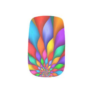 Rainbow Spiral Petals Flower Minx Nails Minx Nail Art