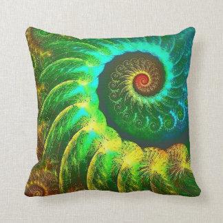 Rainbow Spiral Pillow