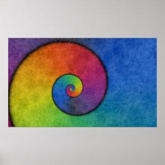 Rainbow Spiral Poster