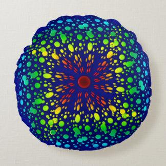 Rainbow spiral. round pillow