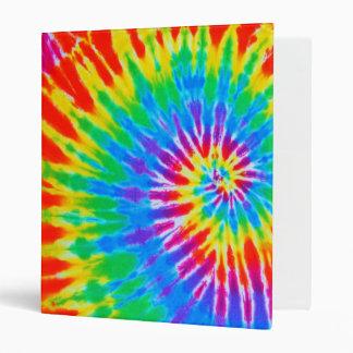 Rainbow Spiral Tie Dye 3 Ring Binders