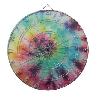 Rainbow Spiral Tie Dye fluorescent Dartboard