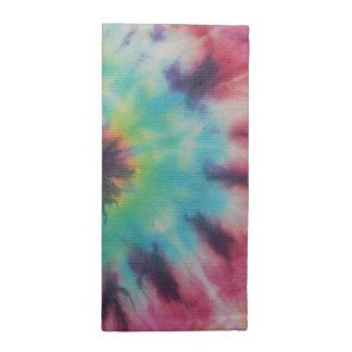Rainbow Spiral Tie Dye fluorescent Napkin