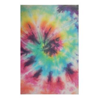 Rainbow Spiral Tie Dye fluorescent Stationery