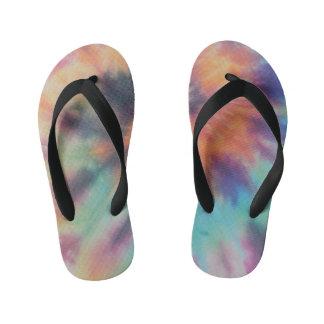 Rainbow Spiral Tie Dye I Kid's Flip Flops