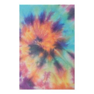 Rainbow Spiral Tie Dye I Stationery