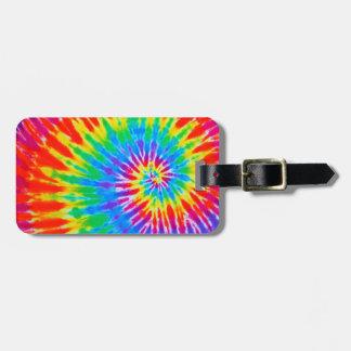 Rainbow Spiral Tie Dye Luggage Tag