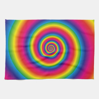 Rainbow Spiral Towel