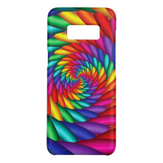 Rainbow Spiraling Tunnel Twist Phone Case