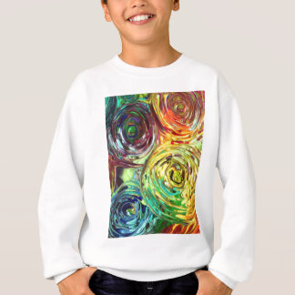 Rainbow Spirals Abstract Painting Sweatshirt