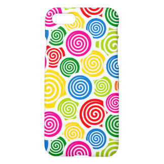 Rainbow spirals iPhone 7 case