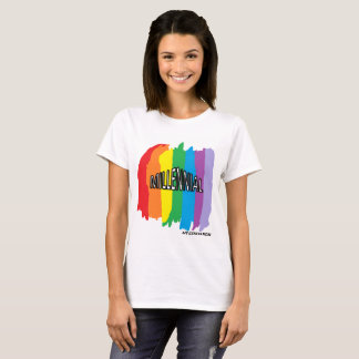 Rainbow splash Millennial T-shirt