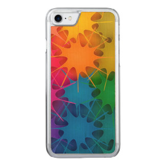 Rainbow Splat! Carved iPhone 7 Case