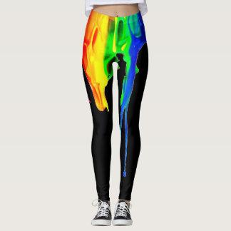 Rainbow Splatter Leggings