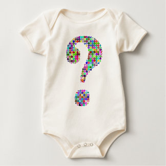 Rainbow Splatter Question Mark Baby Bodysuit