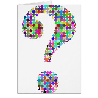 Rainbow Splatter Question Mark Card