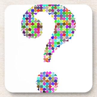 Rainbow Splatter Question Mark Coaster