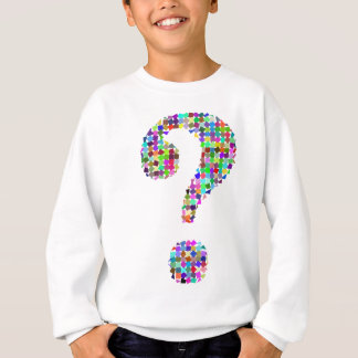 Rainbow Splatter Question Mark Sweatshirt