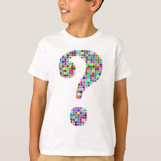 Rainbow Splatter Question Mark T-Shirt