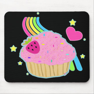 Rainbow Sprinkled Cupcake Mousepad