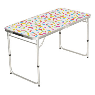 Rainbow Sprinkles Beer Pong Table