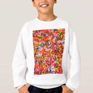 Rainbow Sprinkles Candy Pattern Sweatshirt