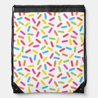 Rainbow Sprinkles Drawstring Bag