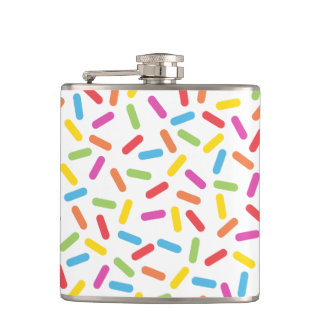 Rainbow Sprinkles Hip Flask