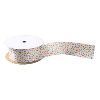 Rainbow Sprinkles Satin Ribbon