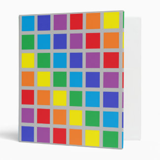 Rainbow Squares Silver Binder