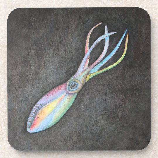 Rainbow Squid Coasters