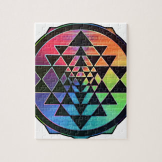 Rainbow Sri Yantra for Prosperity & Love Jigsaw Puzzle