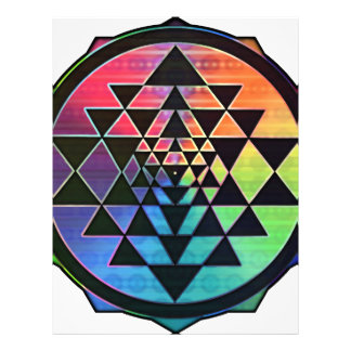 Rainbow Sri Yantra for Prosperity & Love Letterhead