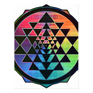 Rainbow Sri Yantra for Prosperity & Love Postcard