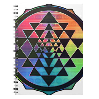 Rainbow Sri Yantra for Prosperity & Love Spiral Notebook