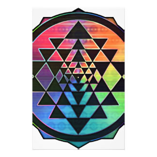 Rainbow Sri Yantra for Prosperity & Love Stationery